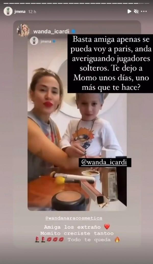 "El pícaro pedido de Jimena Barón a Wanda Nara: ""Andá buscando jugadores  solteros"""
